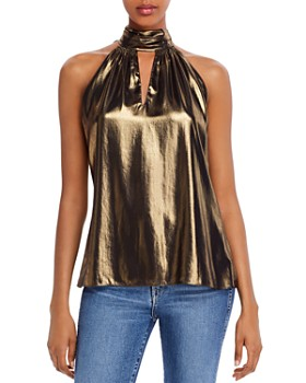 Ramy Brook - Lola Silk-Blend Metallic Top