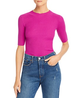 MILLY - Fiona Wool Ribbed-Knit Top