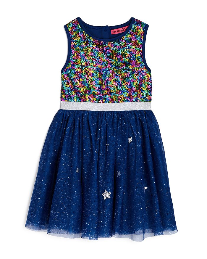 JOJO SIWA by BETSEY JOHNSON - Girls' Rainbow Sequin Dress, Big Kid - 100% Exclusive
