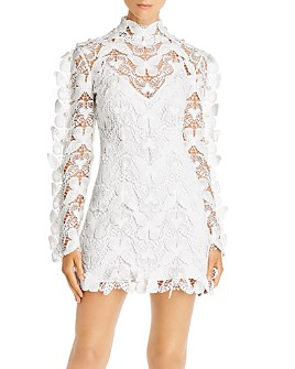 David Koma - Butterfly-Crochet Cotton Mini Dress