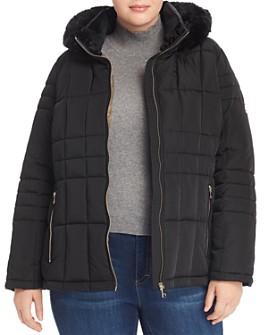 Calvin Klein Plus - Faux-Fur Trim Puffer Coat