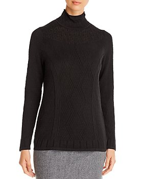 NIC and ZOE - Pointelle Mock-Neck Sweater