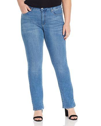 Seven7 Jeans Plus - Lia Tummyless Micro-Bootcut Jeans in Lone Star