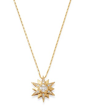 Bloomingdale's - Diamond Starburst Pendant Necklace in 14K Yellow Gold, 0.50 ct. t.w. - 100% Exclusive