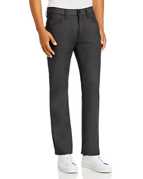 Armani - Five-Pocket Straight Fit Jeans in Dark Gray