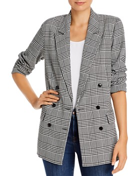 WAYF - Finn Double-Breasted Houndstooth Blazer