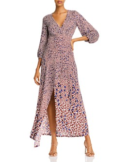 Yigal Azrouel - Asymmetric Leaf-Print Twill Dress