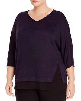 NIC and ZOE Plus - Rejoice Layered-Hem Top