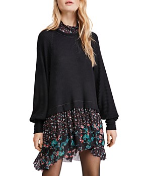 Free People - Opposites Attract Layered-Look Dress