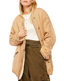 Free People - Ivy Sherpa-Lined Jacket