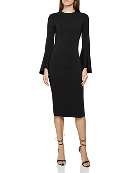 REISS - Annie Bell Sleeve Bodycon Dress