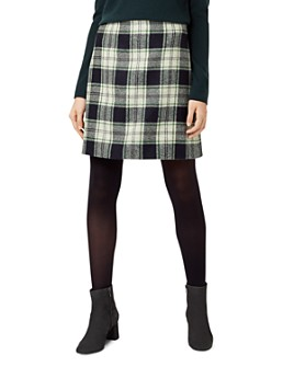 HOBBS LONDON - Elea Plaid Wool Skirt