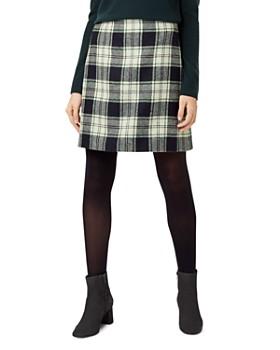 HOBBS LONDON - Elea Plaid Wool Skirt