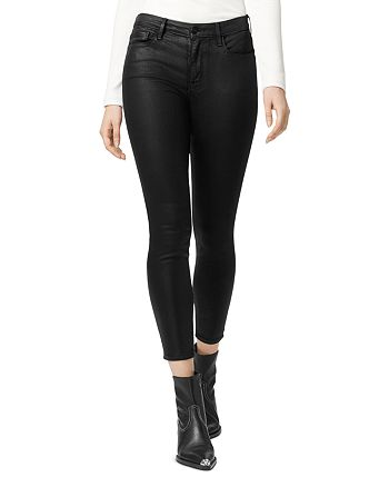Sanctuary - Social Standard Coated Ankle Skinny Jeans in Slick Black