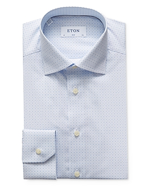 Eton Slim Fit Micro Print Dress Shirt