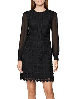 REISS - Aria Crochet Mini Dress