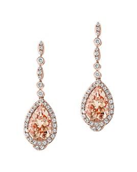 Bloomingdale's - Morganite & Diamond Drop Earrings in 14K Rose Gold - 100% Exclusive