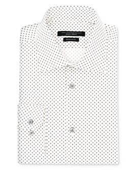John Varvatos Star USA - Square Print Regular Fit Dress Shirt