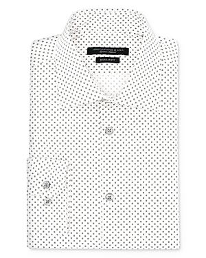 John Varvatos Star Usa Square Print Regular Fit Dress Shirt