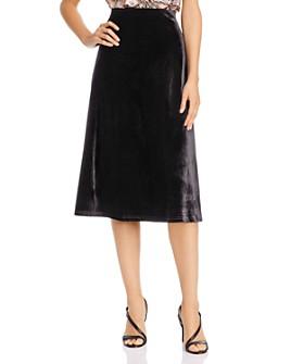 AQUA - Velvet Midi Skirt - 100% Exclusive