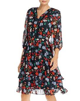 nanette Nanette Lepore - Floral-Print Fit-and-Flare Dress