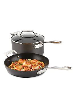 All-Clad - Essentials Nonstick Large Fry & Sauce Pan Set