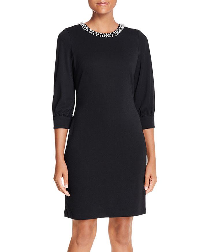 KARL LAGERFELD PARIS - Embellished-Neck Dress