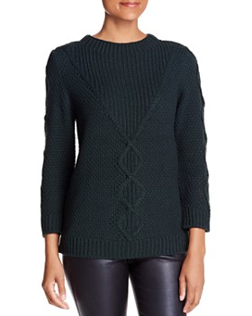 KARL LAGERFELD Paris - Mixed Cable-Knit Sweater