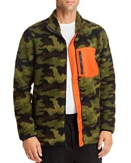 Pacific & Park - Camo Sherpa Regular Fit Fleece Jacket - 100% Exclusive