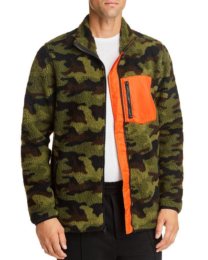 Pacific & Park - Camo Sherpa Regular Fit Fleece Jacket - 100% Exclusive