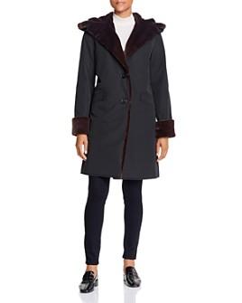 Jane Post - Storm Faux Fur-Trim Coat