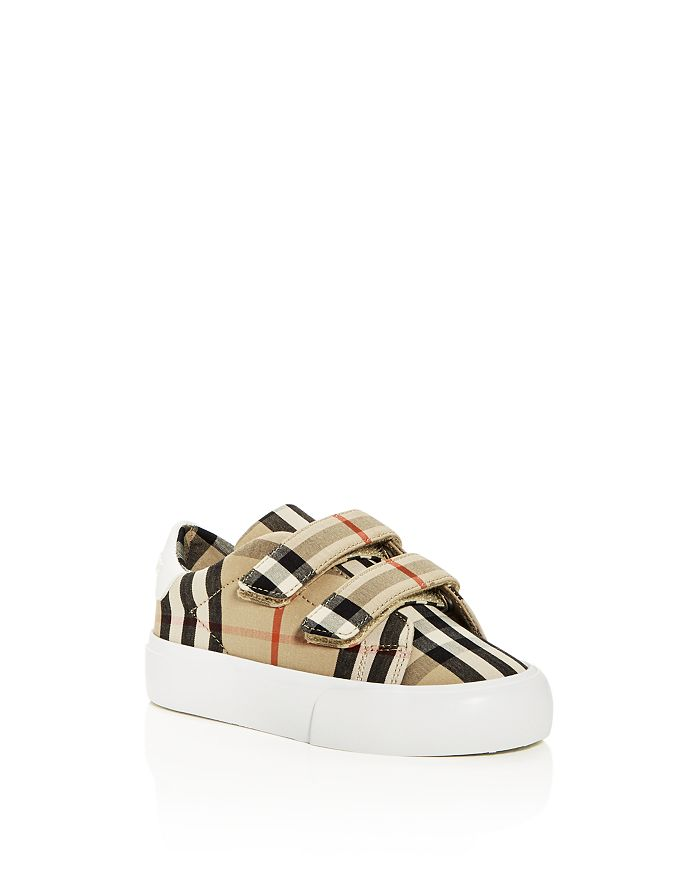 Burberry - Unisex Markham Check Low-Top Sneakers - Walker, Toddler