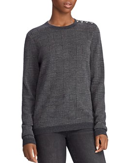 Ralph Lauren - Wool Houndstooth-Plaid Sweater