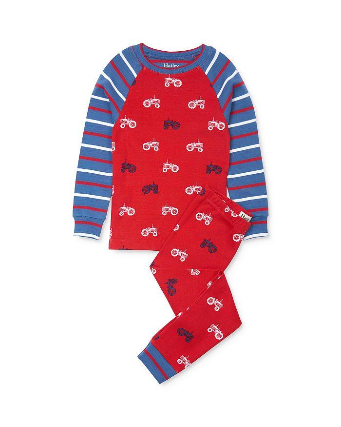 Hatley - Boys' Tractor Print Tee & Tractor Print Pants Pajama Set - Little Kid, Big Kid