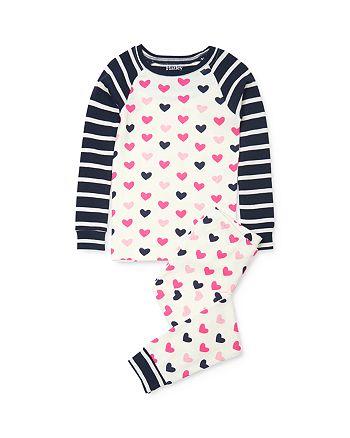 Hatley - Girls' Heart Print Tee & Heart Print Pants Pajama Set - Little Kid, Big Kid