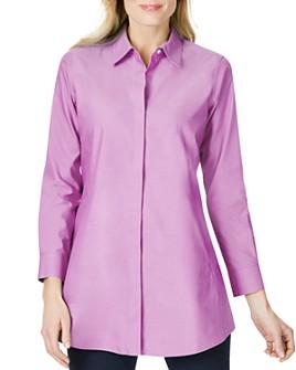 Foxcroft - Cici Cotton Non-Iron Tunic Shirt