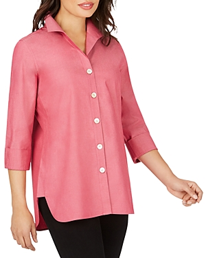 Foxcroft T-shirts NON-IRON COTTON SHIRT