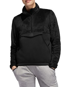 adidas Originals - Fleece Detail Half-Zip Sweatshirt