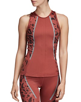 adidas by Stella McCartney - Run Leopard-Print-Panel Tank