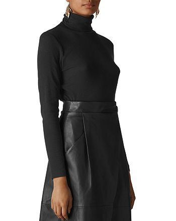 Whistles - Essential Turtleneck Ribbed Top