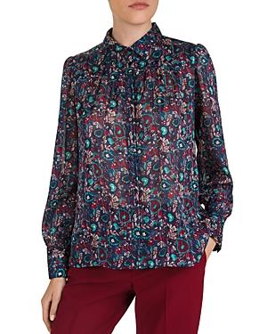 Gerard Darel Maxine Mixed Paisley Print Shirt