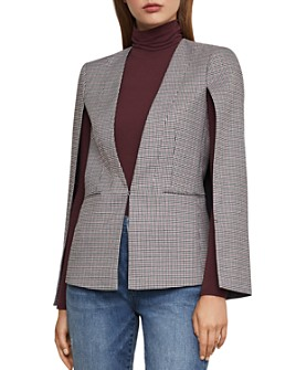 BCBGMAXAZRIA - Plaid Cape Blazer