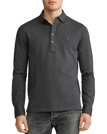 Polo Ralph Lauren - Custom Slim Fit Long Sleeve Mesh Polo Shirt