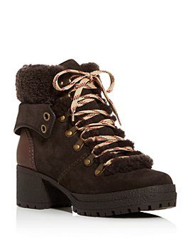 See by Chloé - Women's Shearling Hiker Boots