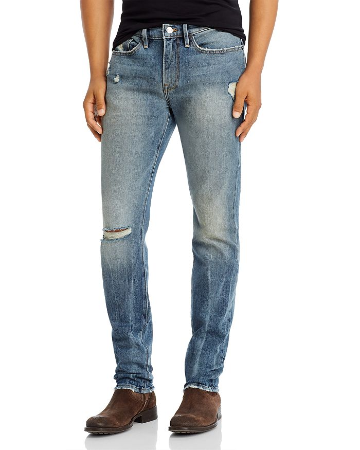 FRAME - L'Homme Skinny Fit Jeans in Asher