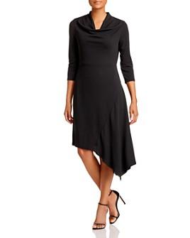 Donna Karan - Cowl-Neck Asymmetric-Hem Dress