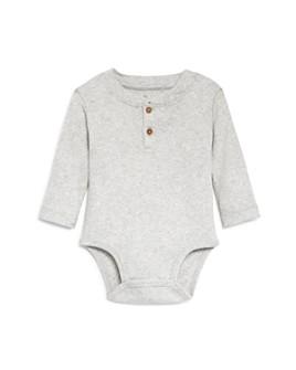 Oliver & Rain - Boys' Ribbed Henley Bodysuit - Baby