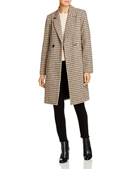 Vero Moda - Double-Breasted Checked Coat