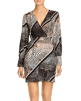Vero Moda - Isolde Striped Animal-Print Dress