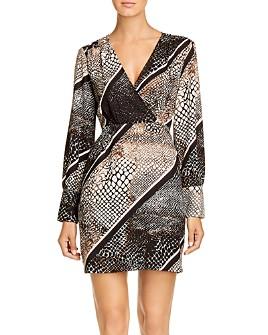 Vero Moda - Isolde Striped Animal-Print Dress